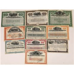 New York Railroad Stocks/Bonds (10)  (109125)