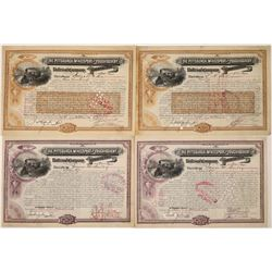 Pittsburgh Railroad Stocks signed by Cornelius Vanderbilt II  (126086)