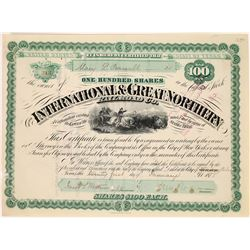 International & Great Northern Railroad Co. Stock Certificate  (107965)