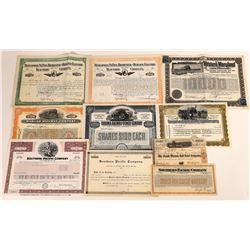 Miscellaneous Railroad Stock Certificates  (107961)