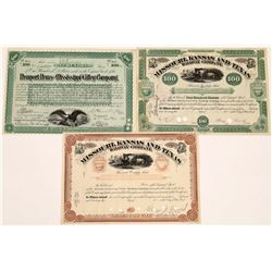 Railroad Stock Certificates with Important Autographs  (126066)