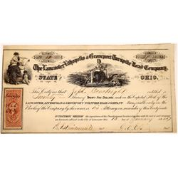 Lancaster, Lithopolis & Groveport Turnpike Road Co. Stock Certificate  (126040)
