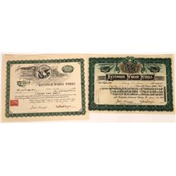 Keystone Wagon Works Stock Certificate Pair  (109310)
