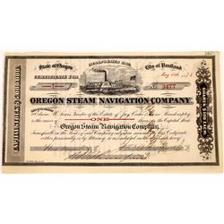 Oregon Steam Navigation Company Stock Certificate  (113781)