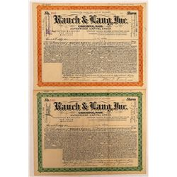 Rauch & Lang Stocks - Rare Car Company  (126934)