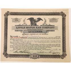 Little Motor Kar Company Stock Certificate  (126054)
