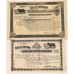 El Capitan Land & Cattle Company Bond and Stock Certificate  (107975)