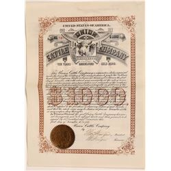 Union Cattle Company Bond  (107976)