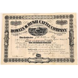 Dowlin & Rush Cattle Company Stock Certificate  (109149)