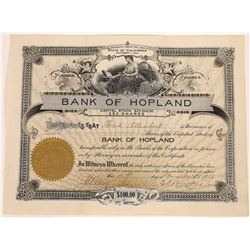 Bank of Hopland Stock Certificate  (125917)
