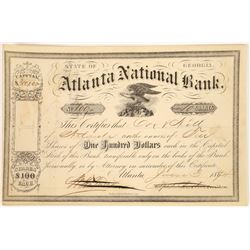 Atlanta National Bank Stock Certificate  (125916)