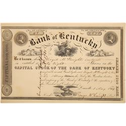 Bank of Kentucky Stock Certificate   (126085)