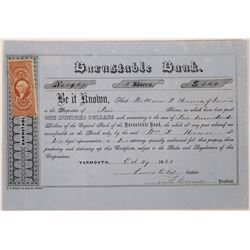 Barnstable Bank Stock Certificate  (126029)