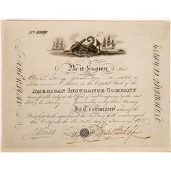 American Insurance Company Stock Certificate  (125893)