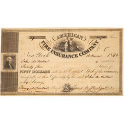 American Fire Insurance Company Stock Certificate  (125897)