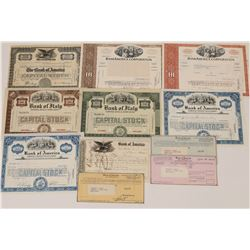Bank of America (& Predecessors) Stock Certificate Group  (126028)