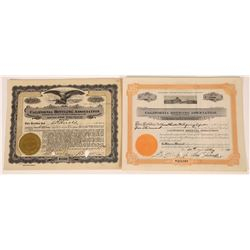Two San Francisco, California Brewing & Bottling Stock Certificates   (107972)