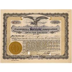 California Brewing/Bottling Association Stock Certificate  (125924)