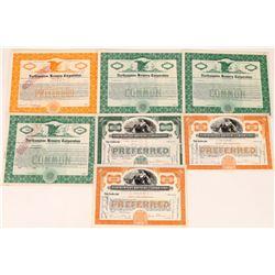 Northampton Brewery Corporation Stock Certificate Group  (126060)