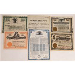 Beverage & Bottling Stock Certificate Group  (109141)
