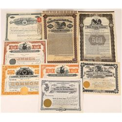 Brewing Stock Certificate & Bond Collection  (125926)