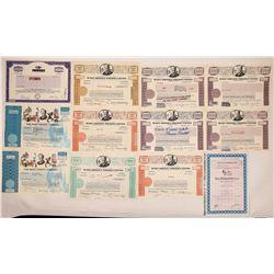 Walt Disney Stock Certificates Plus Bonus (10)  (126961)