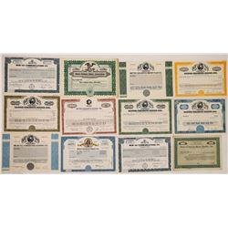 Metro-Goldwyn-Mayer Stock Certificates (10)  (126566)