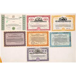 RKO & Universal Studios Stock Certificates--7  (126968)