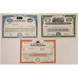 Allied Artists Pictures Corp. Stock Certificates  (126556)