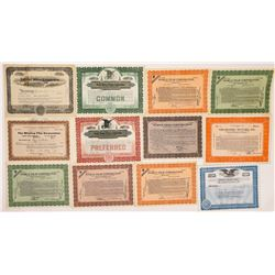 Assorted Movie Company Stock Certs  (126796)