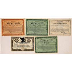 Classic Movie Studio Stock Certificates-5  (126973)