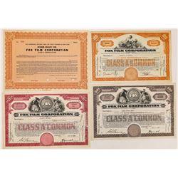 Fox Film Corporation Stock Certificates  (126960)