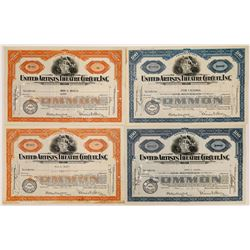United Artists Theatre Circuit Stock Certificates  (126552)