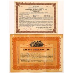 Palace Theatre, Inc. Stock Certificates  (126966)