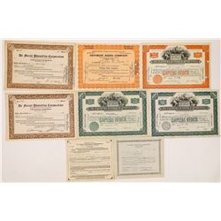 De Forest (The Father of Radio) Corporation Stock Certificates  (126805)
