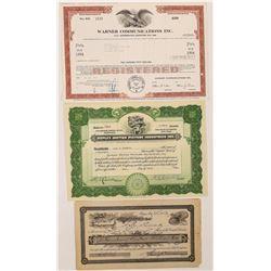 Duplex Motion Picture & More Stock Certificates  (126802)