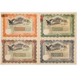Mirror Films Incorporated Stock Certificates  (126803)