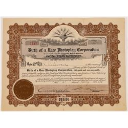 Birth of a Race Photoplay Corp Stock Certificate  (126804)
