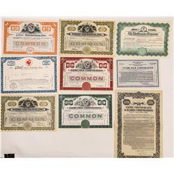 Eight Pathé Film Corporation Stock Certificates   (126565)
