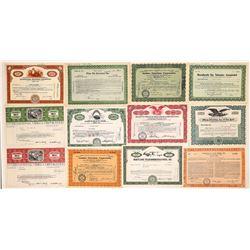 Radio & Television Broadcast Company Stock Certificates (20)  (126978)