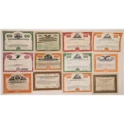 Television, Movie and Radio Company Stock Certificates  (126976)