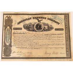 American Express Co. Stock Certificate Signed by Wells and Fargo  (126072)