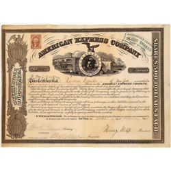 American Express Co. Stock Certificate Signed by Wells and Fargo  (126070)