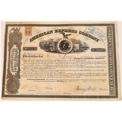 American Express Co. Stock Certificate Signed by Wells and Fargo  (126071)