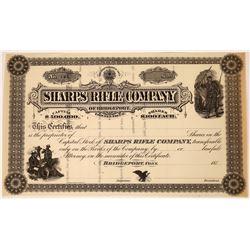 Sharps Rifle Company Stock Certificate  (123508)