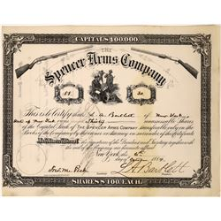 Spencer Arms Company Stock Certificate  (123506)