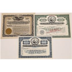Firearms Company Stock Certificate Trio  (126067)