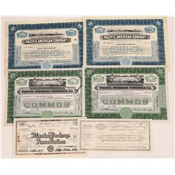 Alaska Fishing Industry Stock Certificates  (109284)