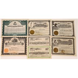 California Food-Related Stock Certificate Group  (109135)