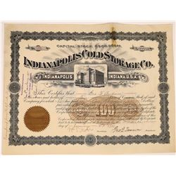 Indianapolis Cold Storage Co. Stock Certificate  (126056)